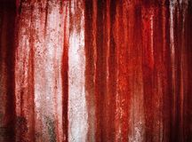 Grunge red paint on wall Royalty Free Stock Images