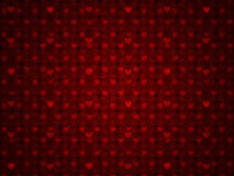 Grunge red pattern with hearts. Illustration of grunge red hearts pattern with flourish background Royalty Free Stock Photos