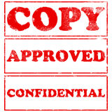 Grunge Red Rubber Stamps stock photo