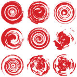 Grunge Red Spiral Stock Photography