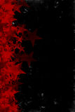 Grunge Red Stars Background Stock Images