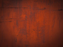 Grunge red steel plate for background Stock Images