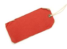 Grunge red tag Stock Image