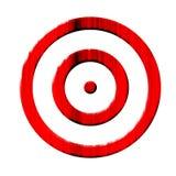 Grunge red target Stock Photos