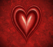 Grunge red valentines heart Stock Photos