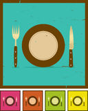 Grunge Restaurant Banner Set Royalty Free Stock Images