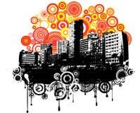 Grunge retro ilustração royalty free
