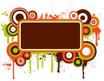 Grunge retro ilustração stock