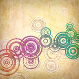 Grunge Retro Background. A Grunge Abstract Background with Retro Circles Royalty Free Stock Image
