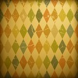 Grunge retro background. With colorful diamonds Royalty Free Stock Photo