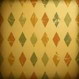 Grunge retro background. With colorful diamonds Stock Photo