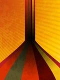 Grunge retro background. Grunge retro perspective stripes on an orange background Stock Photography