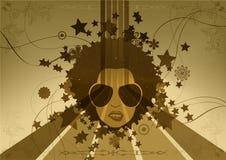 Grunge retro background. Illustration Stock Photography