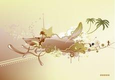 Grunge retro background Stock Image