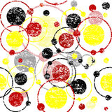 Grunge retro background with circles Royalty Free Stock Photo