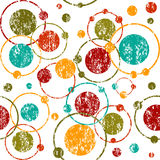 Grunge retro background with circles and dots. Grunge retro background with circles Stock Photo