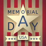 Grunge retro background to the memorial day with the emblem  Stock Photo