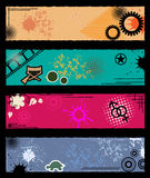 Grunge Retro Banners Royalty Free Stock Photo