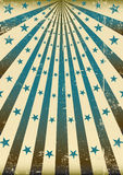 Grunge retro blauwe zonnestralen Royalty-vrije Stock Foto
