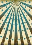 Grunge retro blue sunbeams Royalty Free Stock Photo