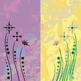 Grunge Retro- Blumen Stockbilder