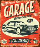 Grunge retro car service sign