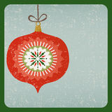 Grunge retro Christmas decoration card. Christmas decoration card old style Royalty Free Stock Photos