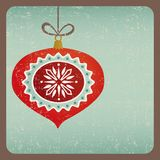 Grunge retro Christmas decoration card Stock Photography