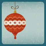 Grunge retro Christmas decoration card. Christmas decoration card old style Royalty Free Stock Photography