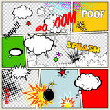Grunge Retro Comic Speech Bubbles Stock Image