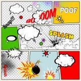 Grunge Retro Comic Speech Bubbles vector illustration