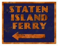Grunge retro de Staten Island Ferry Sign Vintage Ilustração do Vetor