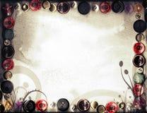 Grunge retro del fondo de la primavera de la sepia floral Imagenes de archivo