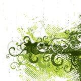 Grunge retro en verde Foto de archivo