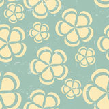 Grunge Retro flower pattern background seamless Royalty Free Stock Photos