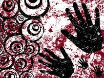 Grunge Retro- Hintergrund Stockbild