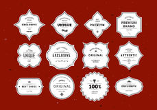 Grunge Retro Labels Set Stock Photo