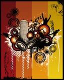 Grunge Retro Music City. Vector Illustrations Royalty Free Stock Photo