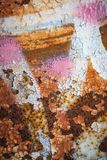 Grunge retro rusty metal texture or background Royalty Free Stock Photos