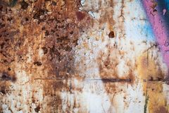 Grunge retro rusty metal texture or background Royalty Free Stock Photography
