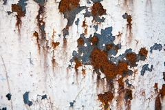 Grunge retro rusty metal texture or background Stock Image