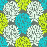Grunge retro seamless pattern of colored leaves. Stock Image