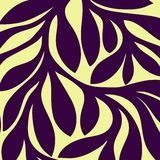 Grunge retro seamless pattern of colored leaves Stock Photos