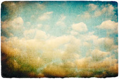 Grunge retro sky image. Stock Photography