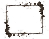 Grunge retro style abstract ink frame Stock Images