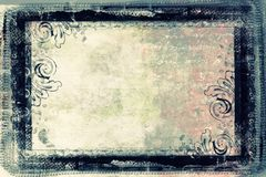 Grunge retro style frame for your projects Royalty Free Stock Photos