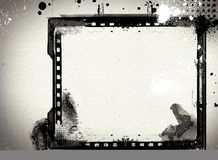 Grunge retro style frame for your projects Stock Image