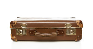 Grunge retro suitcase Royalty Free Stock Images