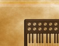 Grunge  Retro  Synthesizer. Grunge retro synthesizer background or Template Stock Photos