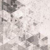 Grunge retro tech background. Triangles pattern Royalty Free Stock Images